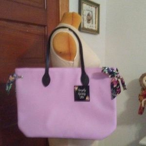 Simply Spring Tote Bag in Violet